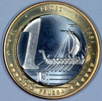 Reverse of Swedish 1 Euro Pattern Coin