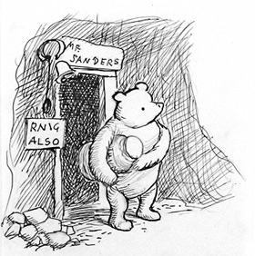 Winnie The Pooh drawn by EH Shepard