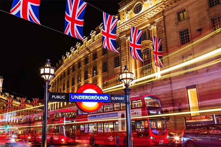 entrada do metrô de Londres