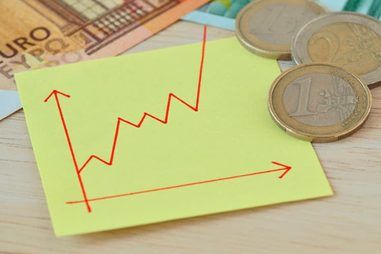 Por que o euro não para de subir gráfico