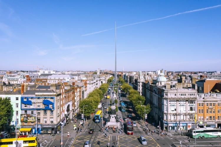 Vista aérea de Dublin