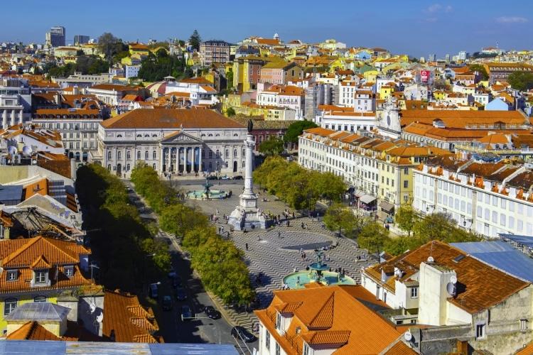Vista aérea Lisboa