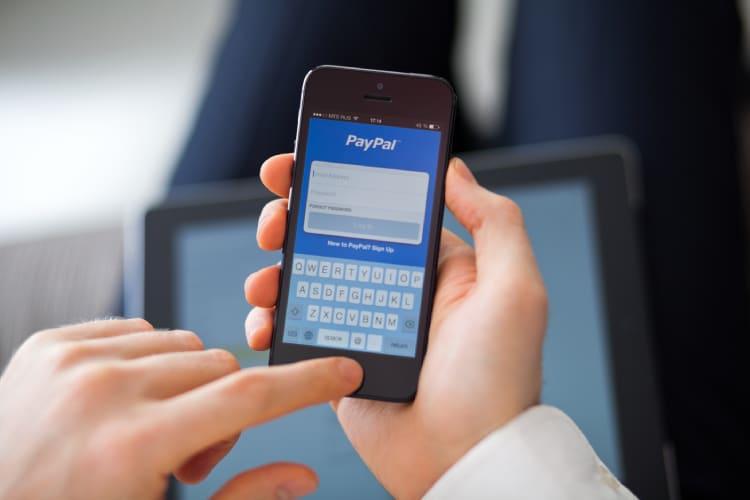Aplicativo PayPal para envio de dinheiro