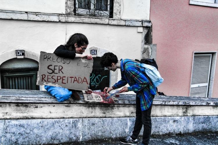 Manifestantes em Lisboa