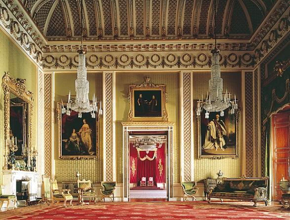 Resultado de imagen para palacio de buckingham en la sala