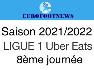 Ligue 1 Uber Eats 8ème journée saison 2021/2022