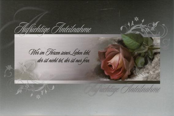 50 Trauerkarten 8 Motive Grukarten Kondolenz Trauer