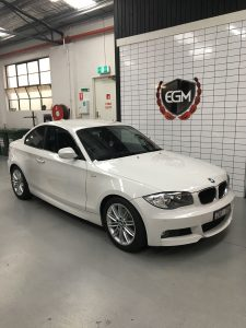 White BMW Luxury Car