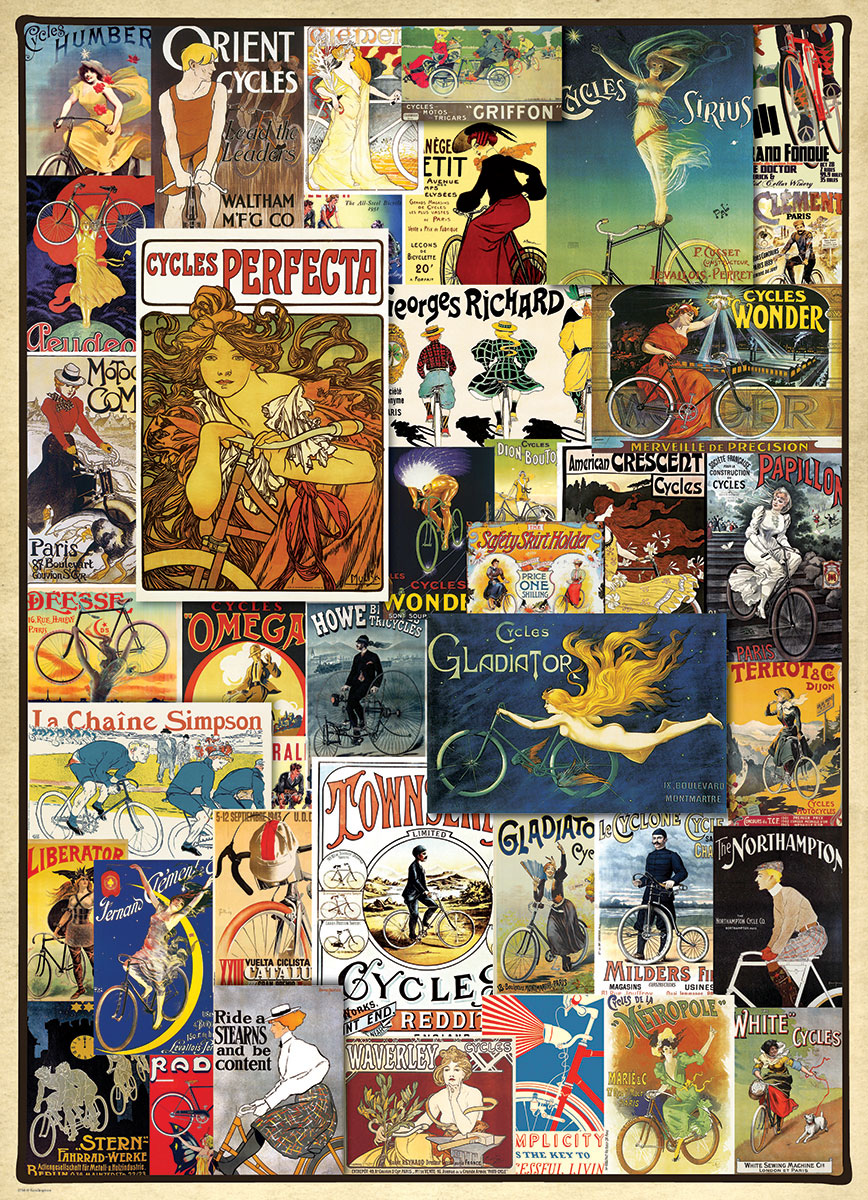 Vintage Ads  Bicycles Jigsaw Puzzles at Eurographics