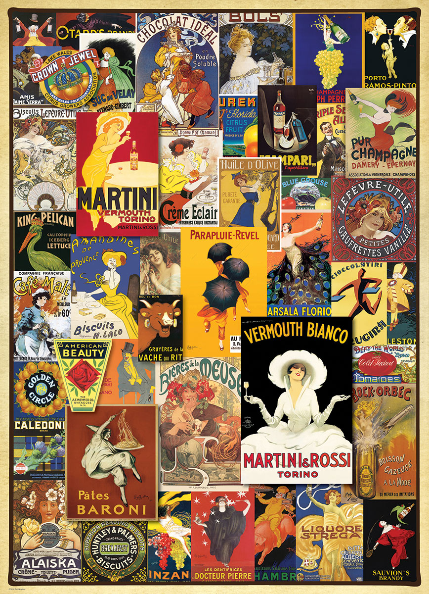 Vintage Ads Variety Jigsaw Puzzles At Eurographics