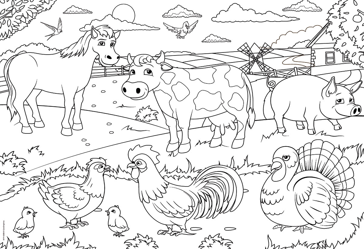Farm Color Me Puzzles At Eurographics