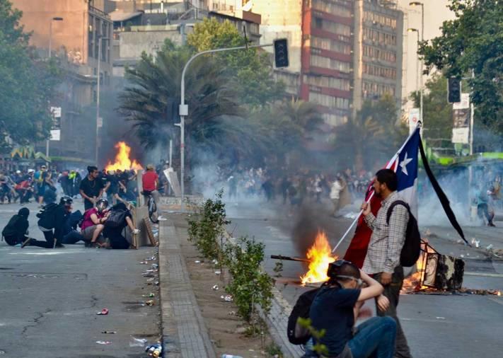 Manifestaciones en chile Chile Despertó de la dictadura