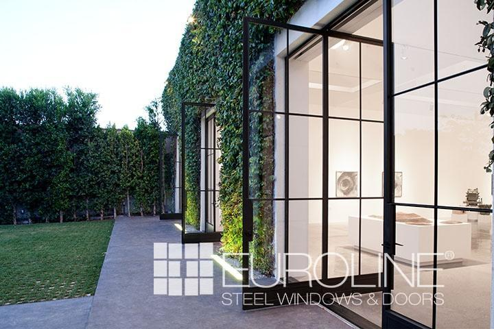 Custom Exterior Steel Pivot Doors  Euroline Steel Windows