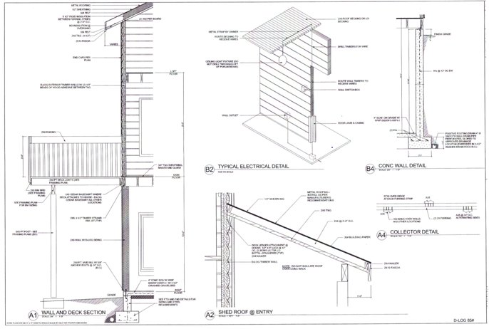 The detailed and accurate construction drawings from