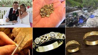 Busca oro durante 18 meses para hacer las alianzas de su boda