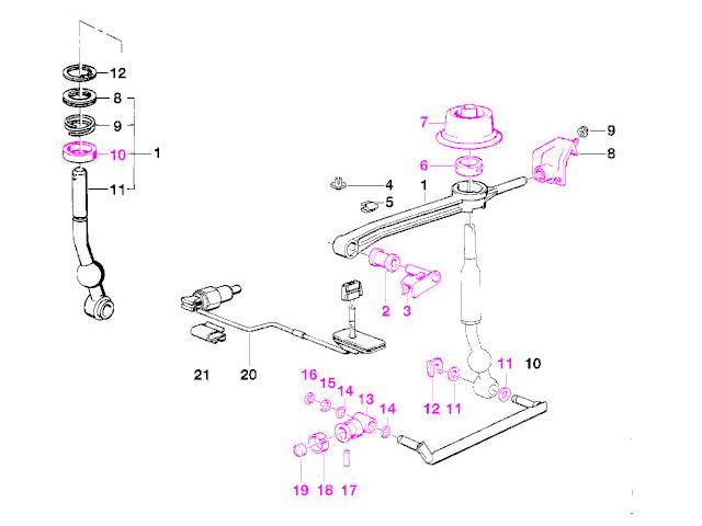 BMW e28 535 (86-93) Shift Bushing REBUILD Kit (17 pcs