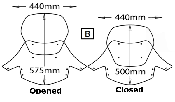 Adjustable Windscreen Isotta screens Motorcycles BMW