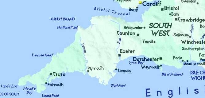 Image result for dorchester devon map