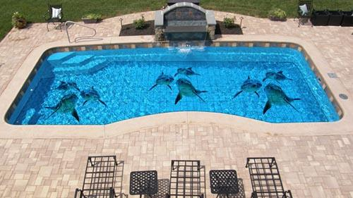 custom printed pool tiles custom