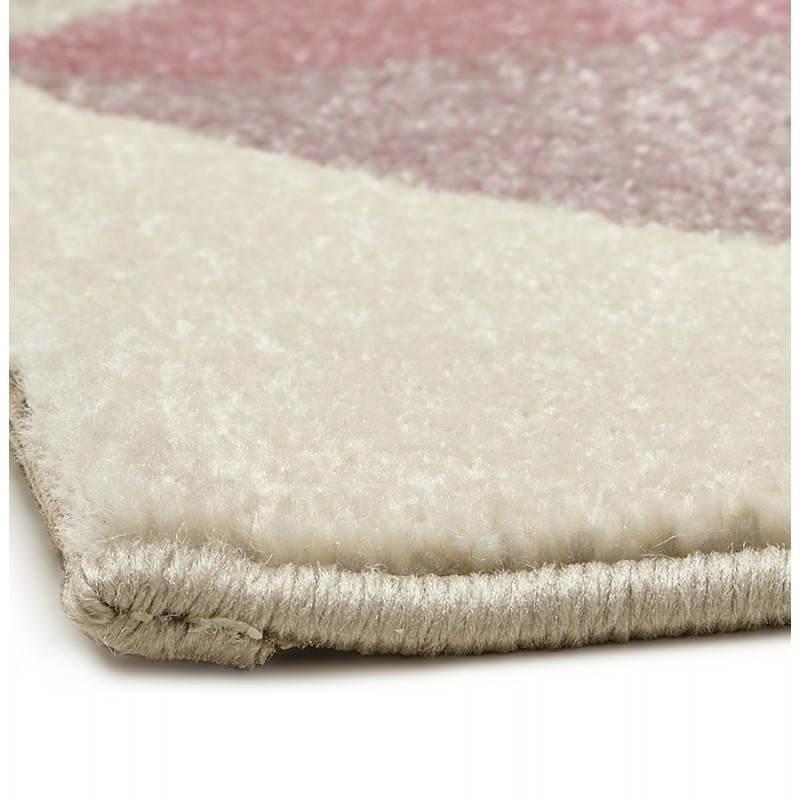 tapis design style scandinave geo rose