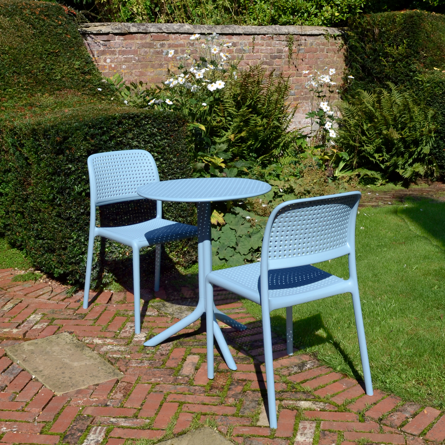 blue bistro chairs diy swing chair step table in sky europa leisure uk