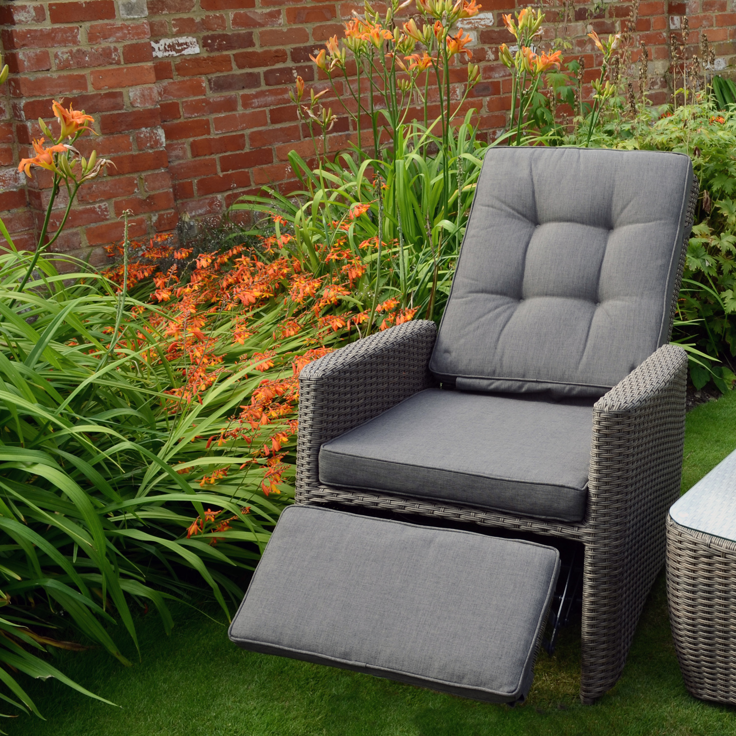 outdoor recliner chairs uk swivel chair canada milborne reclining milbrone reclined