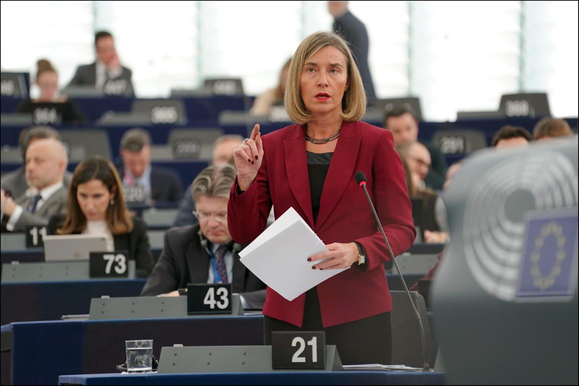Joint debate on Palestine/UNRWA with Federica Mogherini, High Representative of the Union for Foreign Affairs and Security Policy.