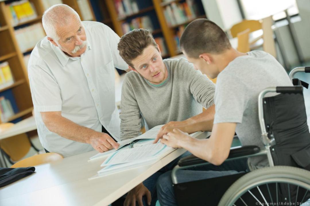 Student in wheelchair illustration image ©Auremar/AdobeStock