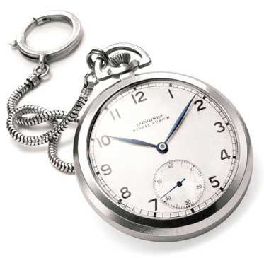 Einstein's Longines pocket watch