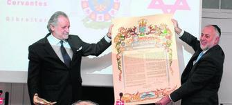 Duque de Medina Sidonia y prsidente de la Comunidad Sefaradí de Gibraltar