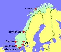 Airports in Norway Guides and Flight Details