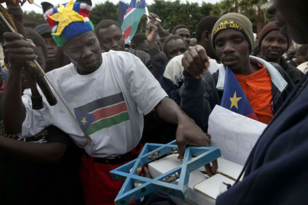 Les Sud Soudanais célèbrent Israël