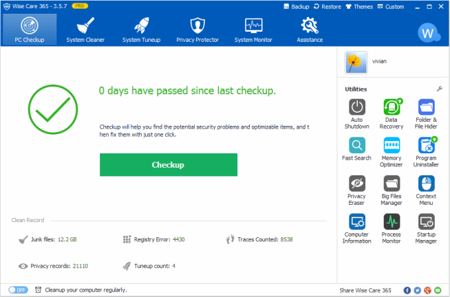 Wise Care 365 Pro Key + Review With Crack Full Version Free Download