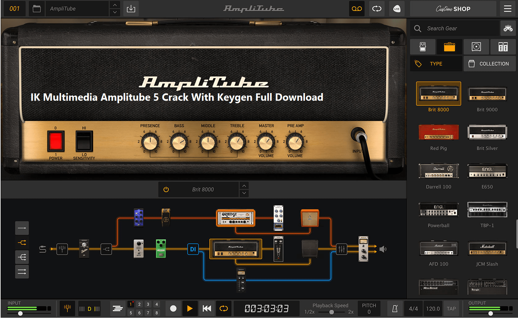 IK Multimedia Amplitube 5 Crack With Keygen Full Download [2021]