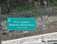 Ephrussi de Rothschild Villa and Gardens Sign Post