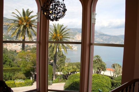Views from the stair case of the Villa Ephrussi de Rothschild