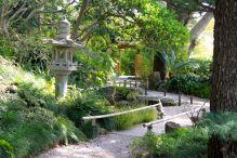 Stone lantern in the Japanese garden at Villa Ephrussi de Rothschild