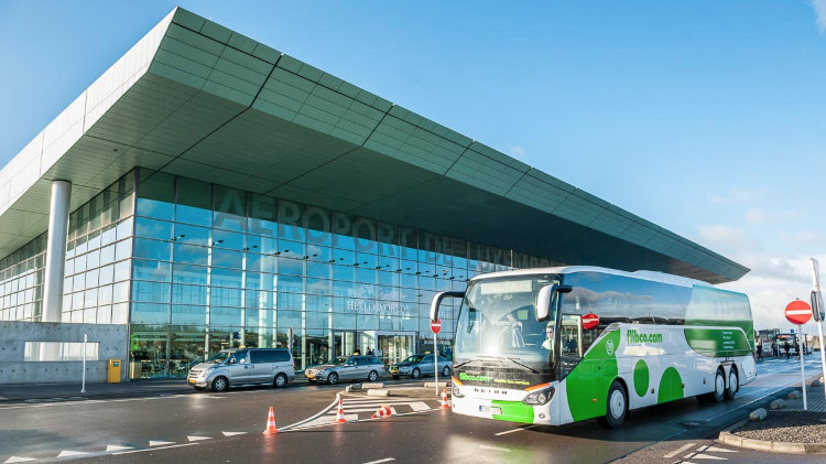 2019 Flibco Bus From Frankfurt Hahn Airport To Trier