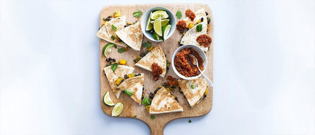 Spicy-Black-Bean-and-Squash-Quesadillas