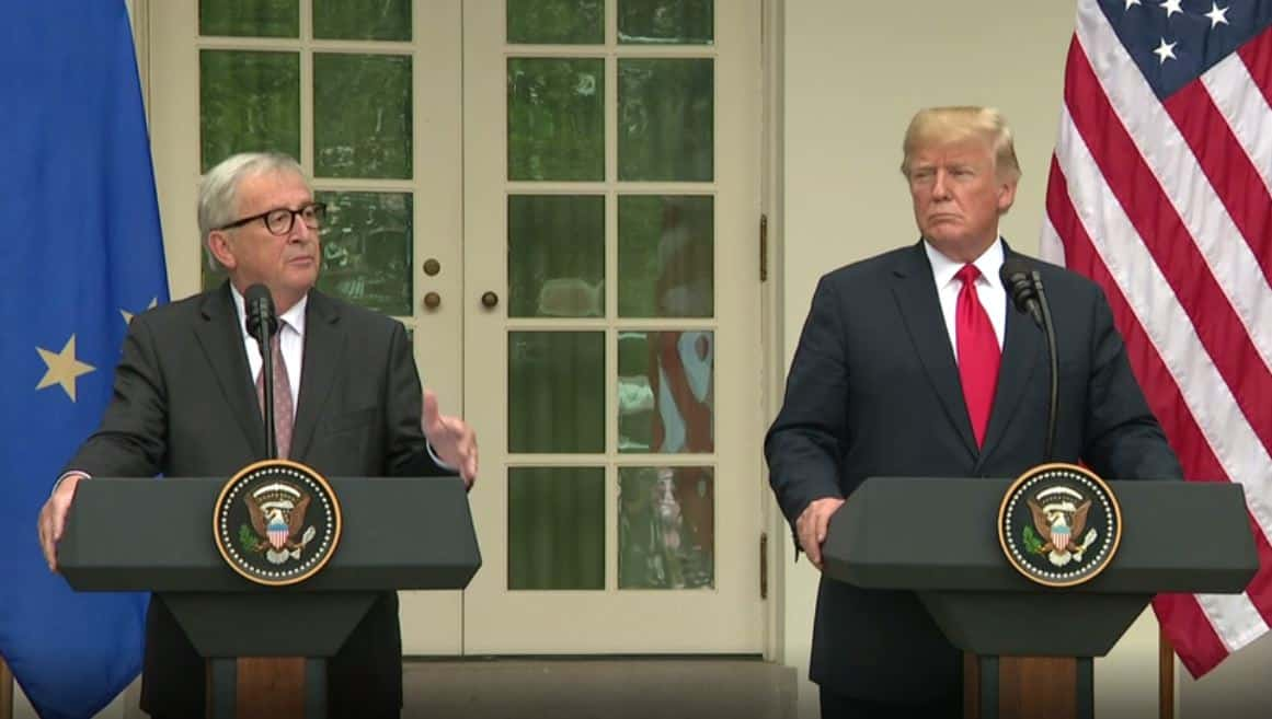EU, US Avoid Trade War as Juncker, Trump Strike Deal to Work for 'Zero Tariffs'