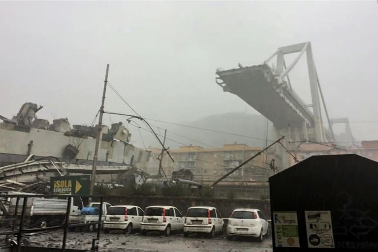 Road Bridge Collapses in Italy's Genoa, Dozens Feared Dead