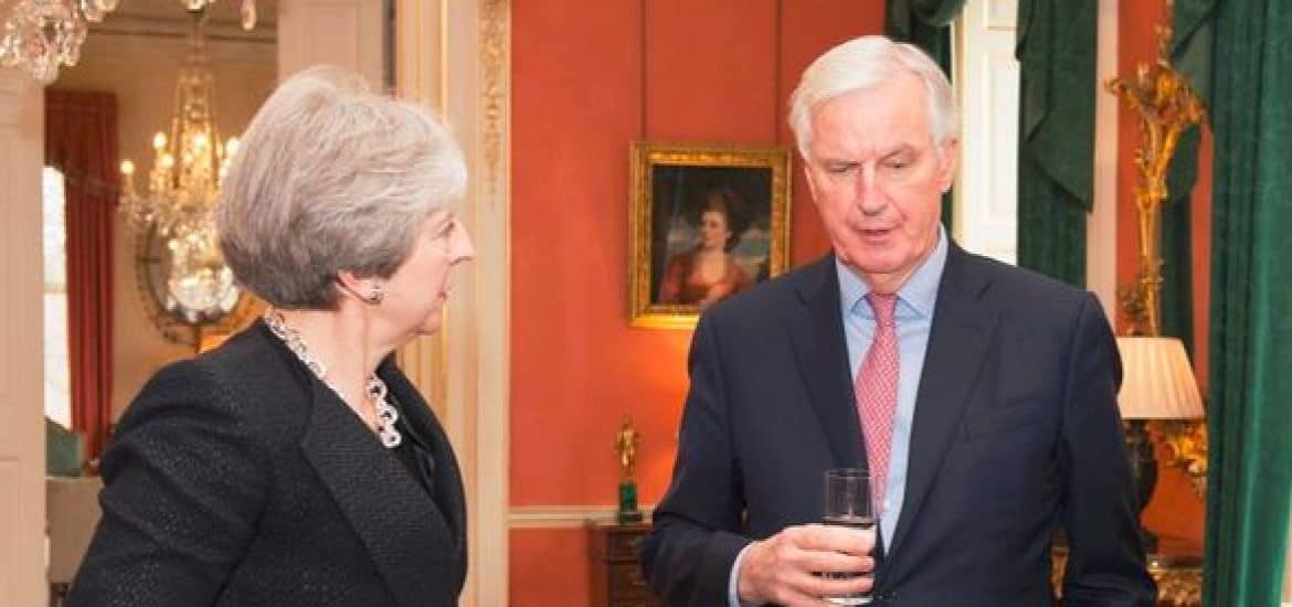 May to Warn EU against Wanting 'the Unacceptable' as Barnier Shifts Tone on Brexit Irish Border Issue