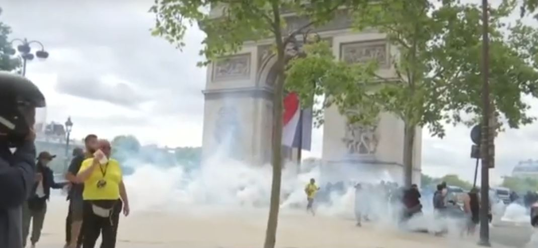 Clashes of 'Yellow Vests' with Police in Paris Mar France's Bastille Day Celebration