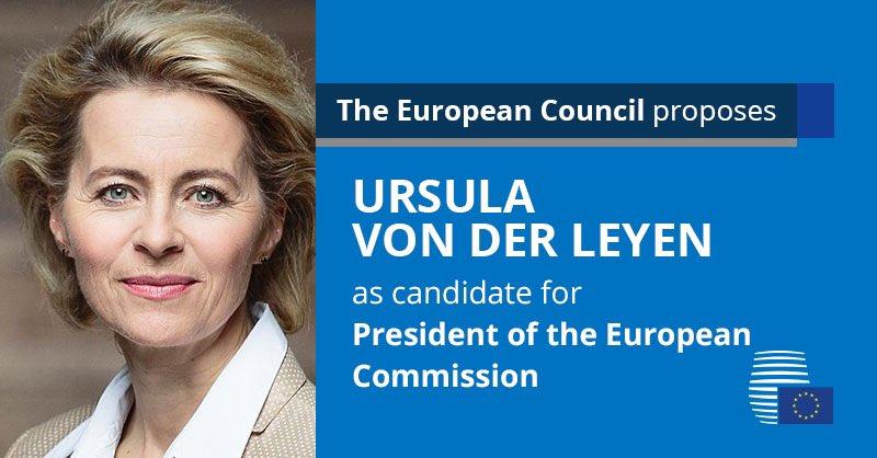 Germany's Ursula von der Leyen Nominated as Next EU Commission President, France's Christine Lagarde as ECB Chief