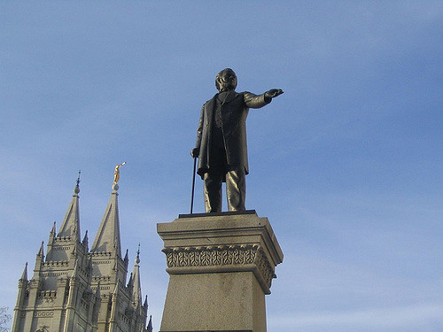 When will the Alt-Left tear down Brigham Young's statue? Will Romney support it?