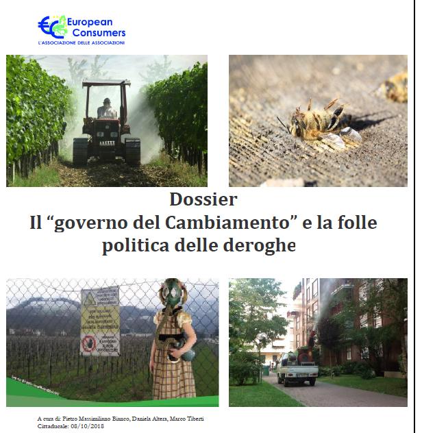 """Dossier European Consumers: Il """"governo del Cambiamento"""" e la folle politica delle deroghe"""