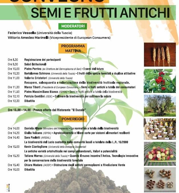 Successo del Convegno Frutti e Semi Antichi (Rieti, Sabina Universitas, 11 aprile 2019)