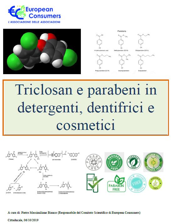 Rapporto European Consumers su triclosan e parabeni in detergenti, dentrifici e cosmetici