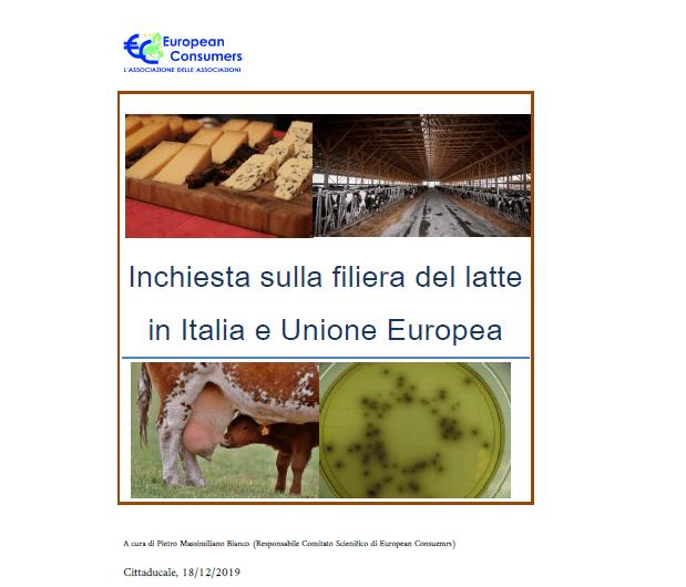Inchiesta sulla filiera del latte in Italia e Unione Europea