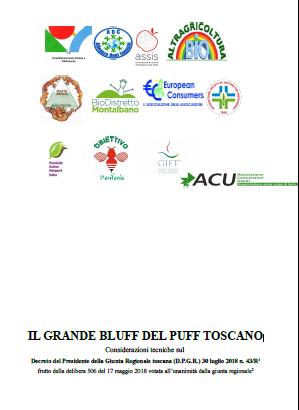 Il Grande Bluff del Piano Toscano per l'Uso sostenibile dei prodotti Fitosanitari e dei Fertilizzanti